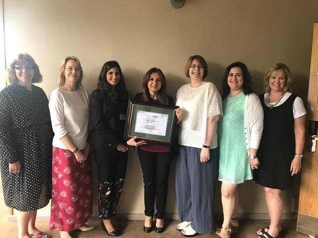 Picture above: The Maria Den Braven Centre from Jordan receiving certificate from the training team having completed the intensive training with the help of the Ray Miles